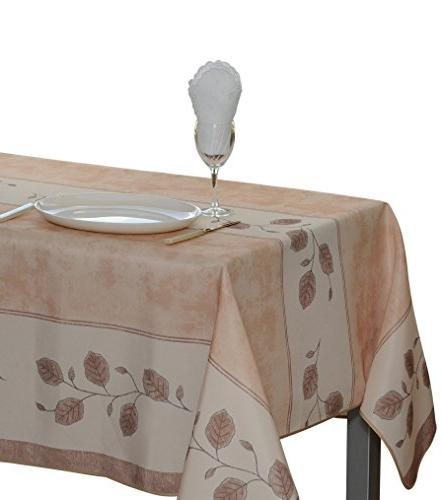 rectangular tablecloth leaf