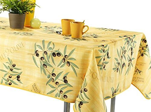 rectangular yellow olive branch stain