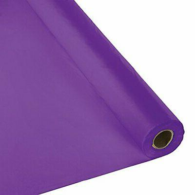 Creative Converting 318934 Plastic Table Cover Banquet Roll,