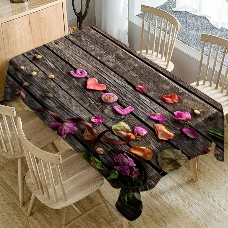 romantic valentine s day tablecloth love flower