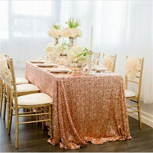 Rose Sequin Tablecloth Covers Wedding