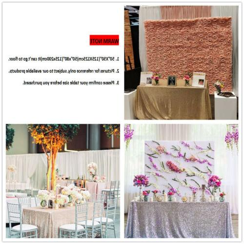 "Rose Gold 50""x80"" Sequin Tablecloth Sequin Covers"