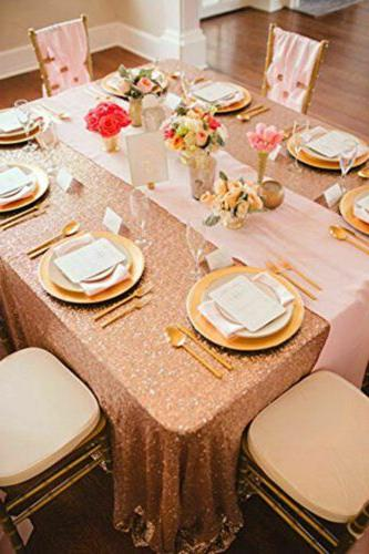Rose Sequin Sequin Table Covers