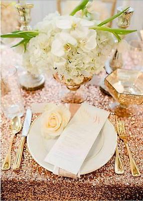 ShinyBeauty Rose Gold Cover, for Tables 60''x... New