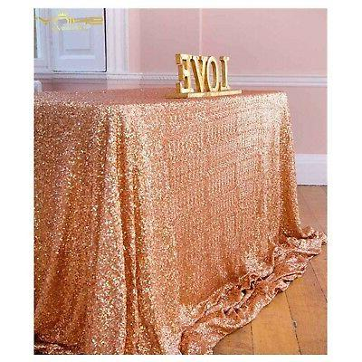 rose gold table cover tablecloths for rectangle