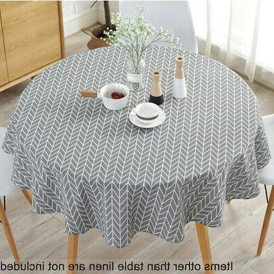 round tablecloths dining table cloth cover wedding