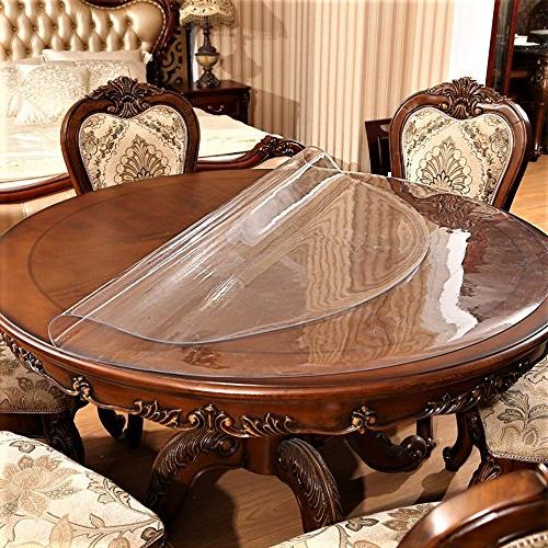 Round Sofa Side Coffee Protector Clear Plastic Vinyl PVC Resistant Furniture Inch