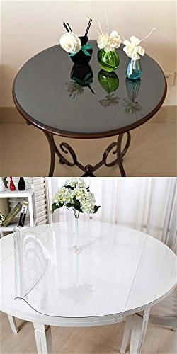 2 Set Protector Clear Vinyl Bedside Bed Table Dining PVC Planter Waterproof 16 Inch