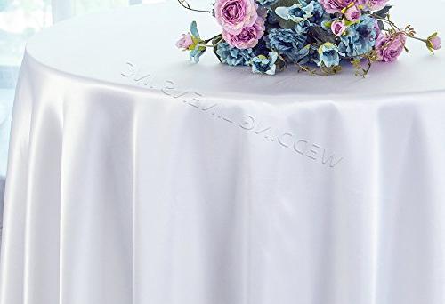 round heavy duty satin tablecloths