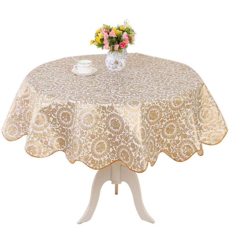 Round Dining Oilcloth Vinyl