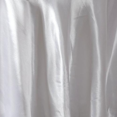 BalsaCircle 108-Inch White Round Satin Linens for Wedding Party Catering Dining Events