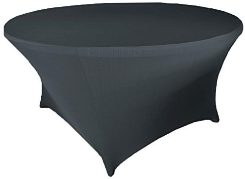 round spandex stretch fitted table