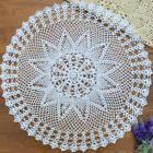 yazi Round Tablecloth Handmade Crochet Cotton Doily Table Co