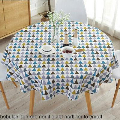 150 cm Round Tablecloths Table Cover Cotton For Wedding Part