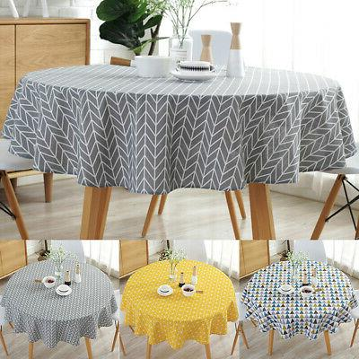 1pc Table Cover Party Tablecloth Round Cotton Covers Cloths