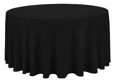 round trade show table covers black tablecloth