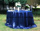 Royal Blue 120'' Round Sequin Table cloth Cover For Wedding/