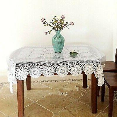 Ustide Rustic Floral Cover Crochet