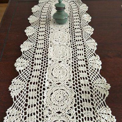 Ustide Floral Runners Handmade Crochet Table