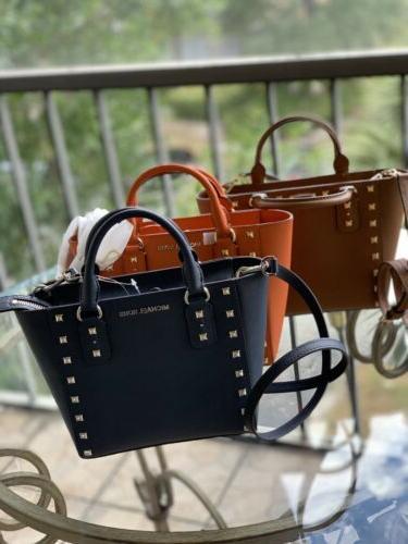 sandrine stud small crossbody bag saffiano leather