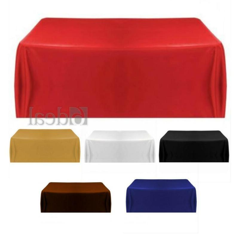 Satin Tablecloth Table Cover for Banquet Wedding Party Home
