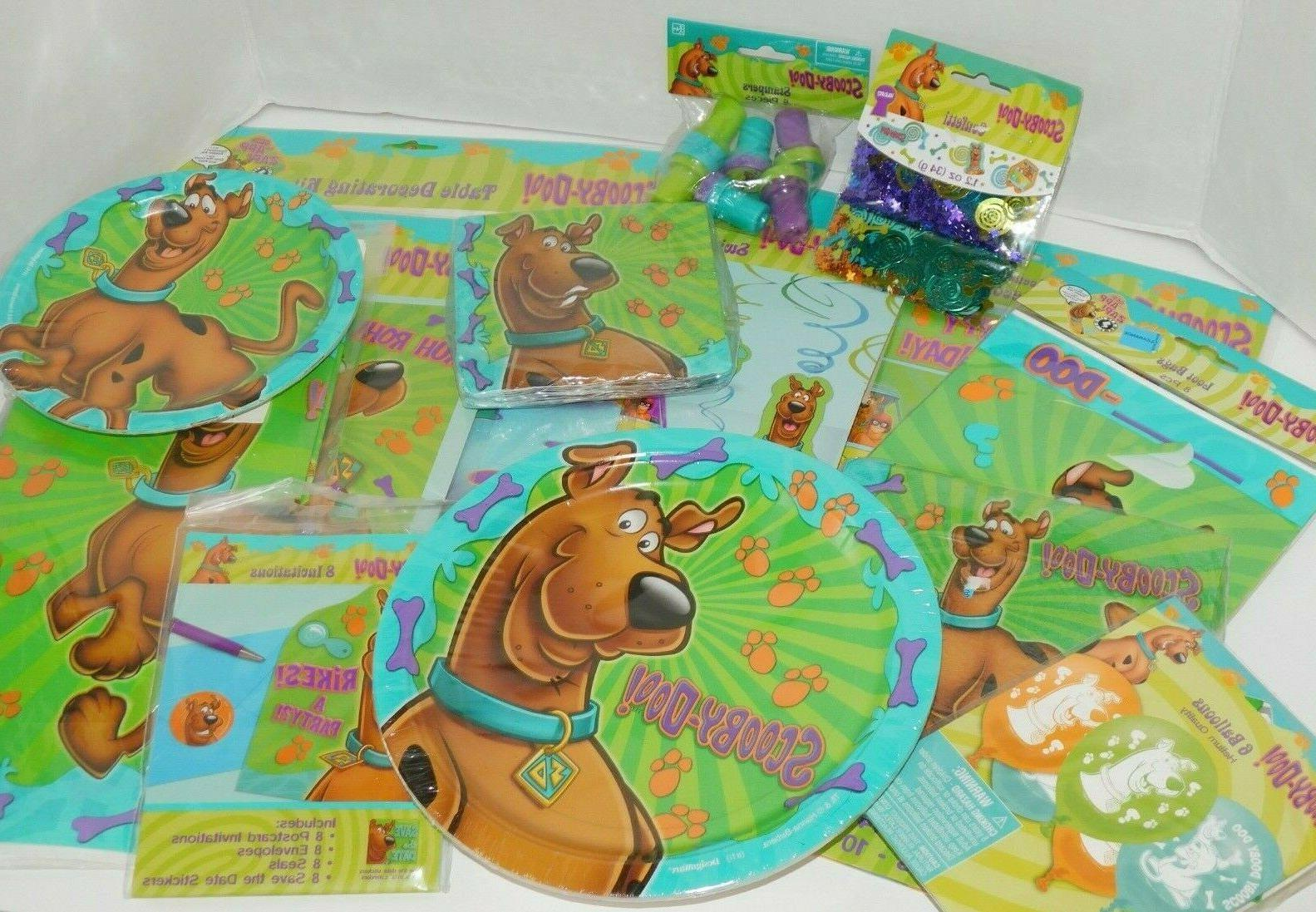 Scooby Birthday Plates Table Decorations