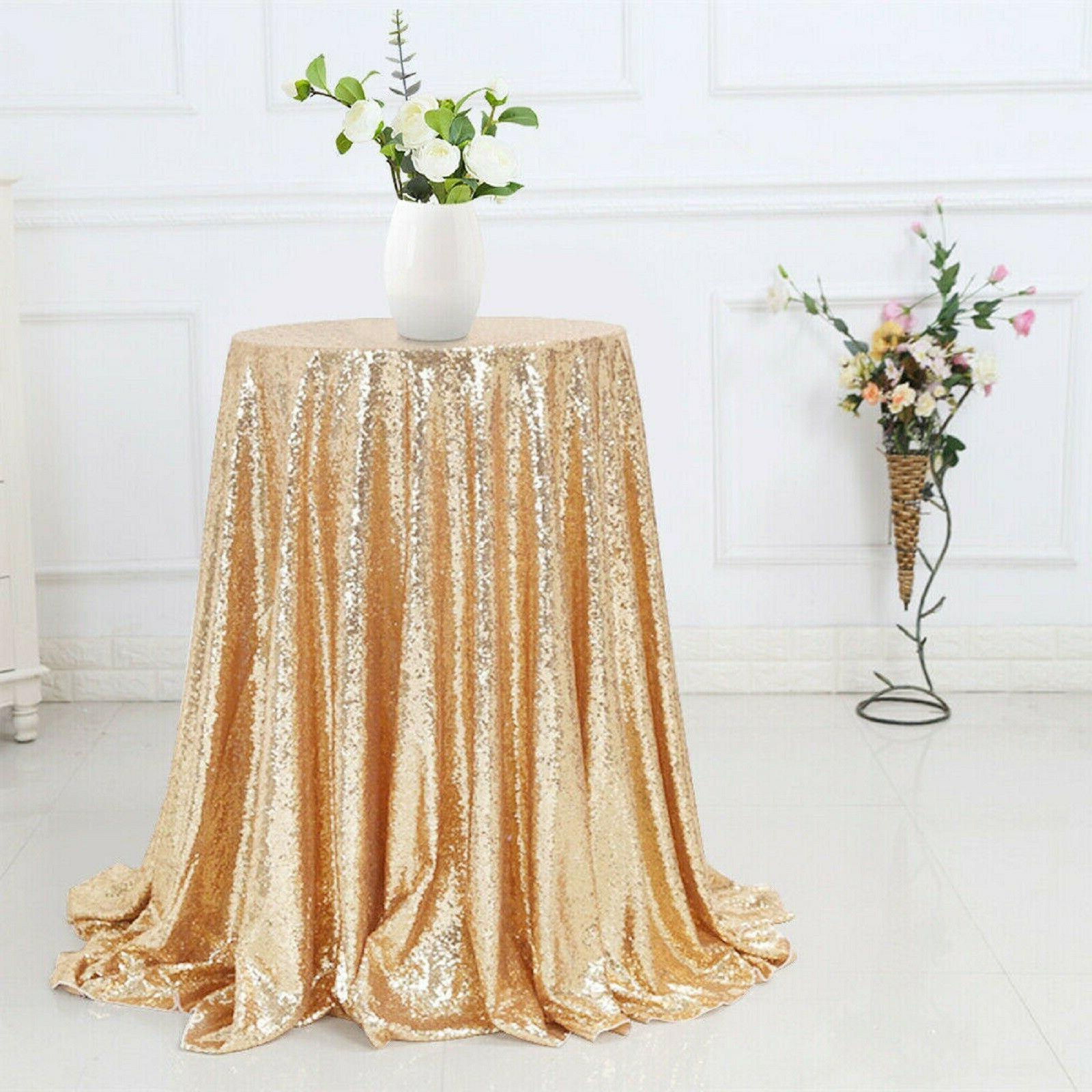 sequin sparkly tablecloth glitter wedding party banquet