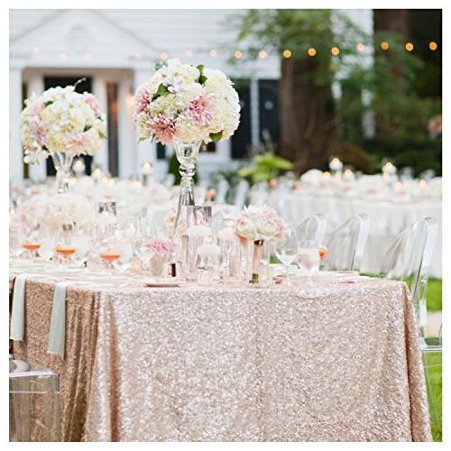 sequin tablecloth rectangular table cloth