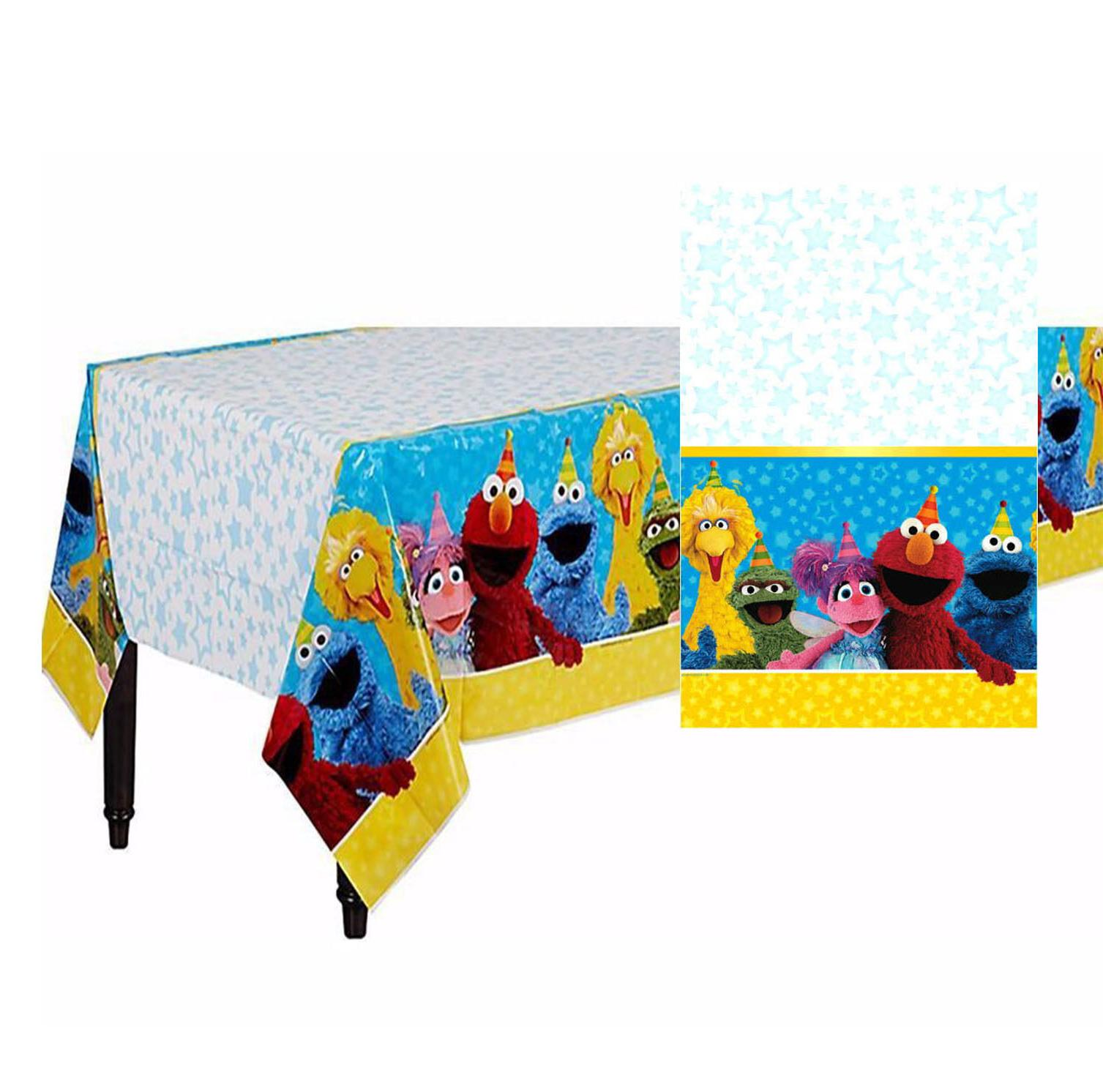 Sesame Street Plastic Table Cover Birthday Party Decoration