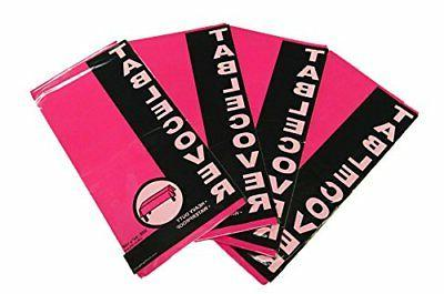 "Set of 4 Bright Pink Party and Holiday Themed - 54"" x 108"" T"