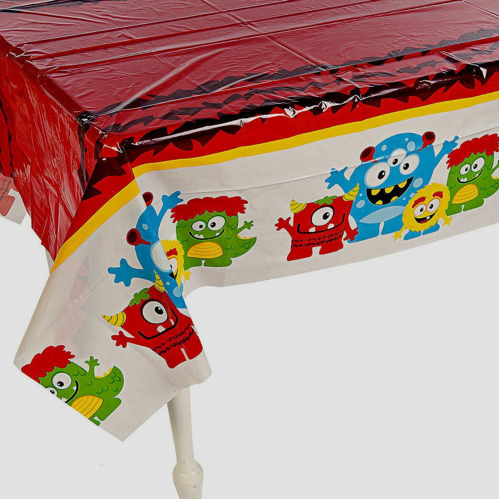silly monster table cover birthday party halloween