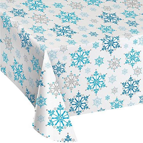 snowflake tablecover frozen winter party