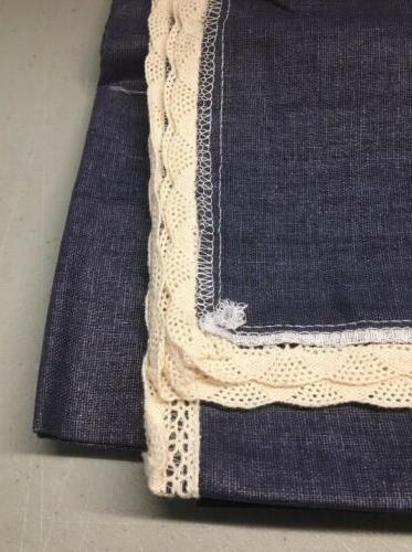 ColorBird Cotton Tablecloth Macrame Blue