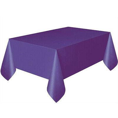 Solid Tablecloth Birthday Party Table Kitchen
