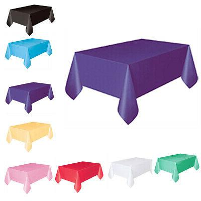 solid disposable tablecloth birthday party table cover
