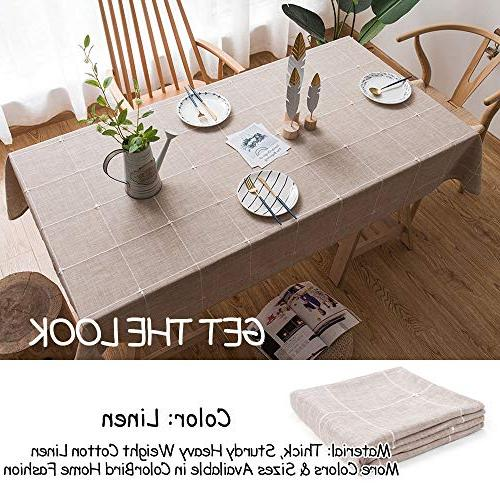 Tablecloth Cotton Dust-Proof Table Cover for Dinning