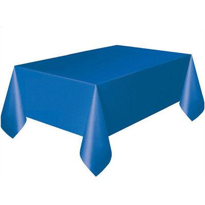 Solid Rectangle Cover Cloth Birthday Party Tablecloth Decor