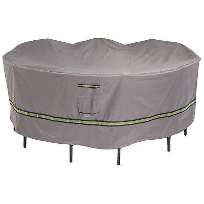 soteria rainproof 108 in round patio table