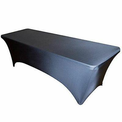 spandex stretch black table cover