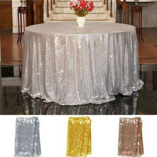 Sequin Round Tablecloth Cover Glitter Wedding Party Banquet