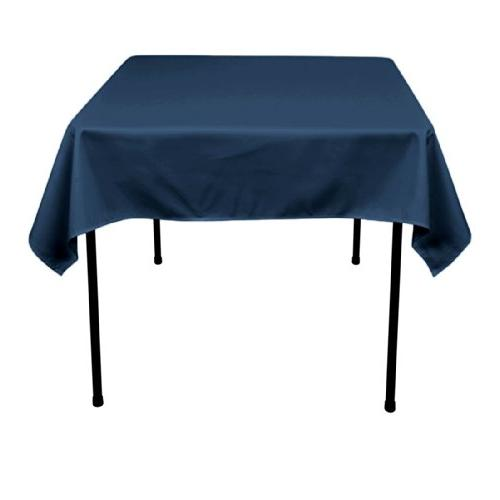 square polyester tablecloth overlay