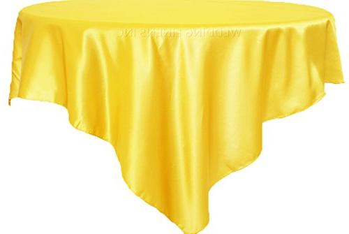 square satin table overlays toppers