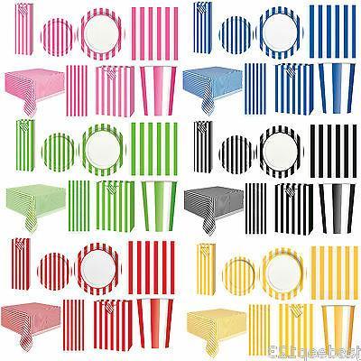 Stirped Stripes Party Tableware Supplies Decorations Birthda