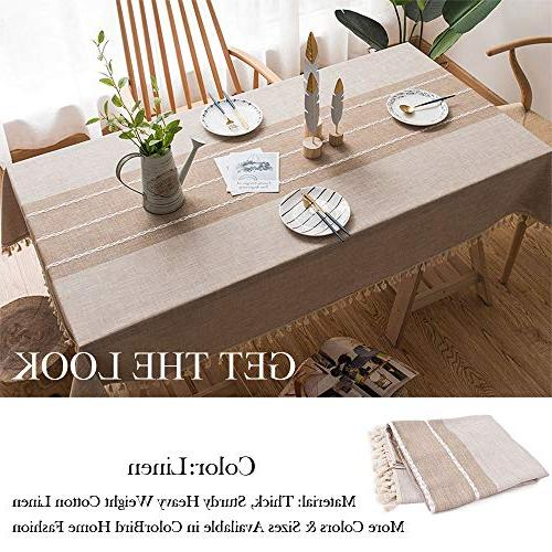 ColorBird Heavy Linen Fabric Dust-Proof Cover for Dinning Decoration