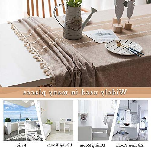ColorBird Tassel Heavy Weight Fabric Dust-Proof for Kitchen Tabletop Decoration