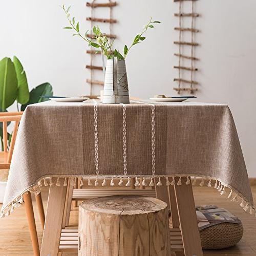 stitching tassel tablecloth heavy cotton
