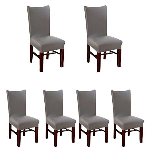 stretch solid chair covers removable