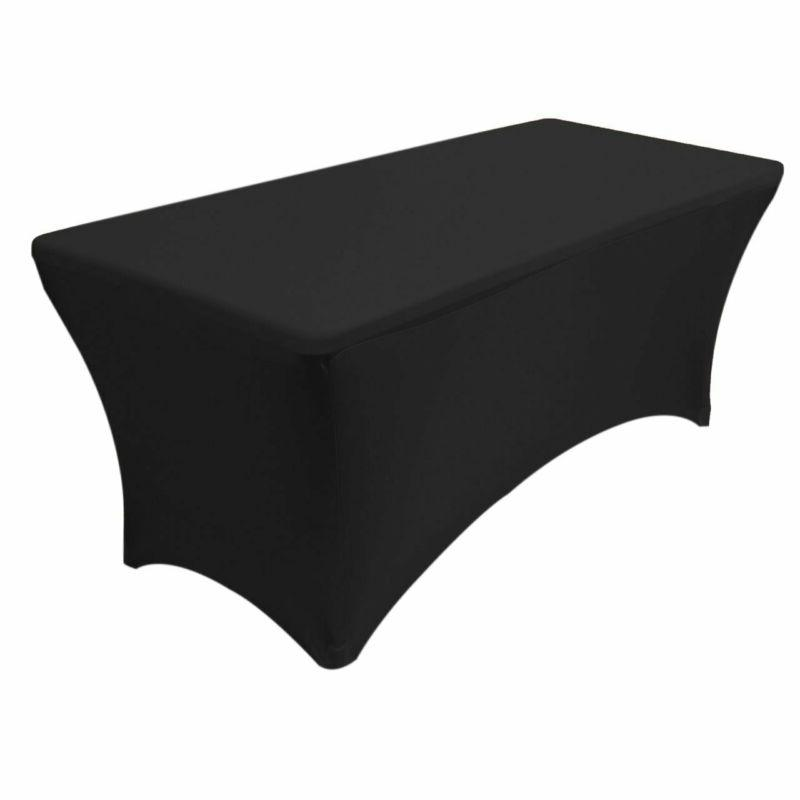 stretch spandex table cover for 6 ft