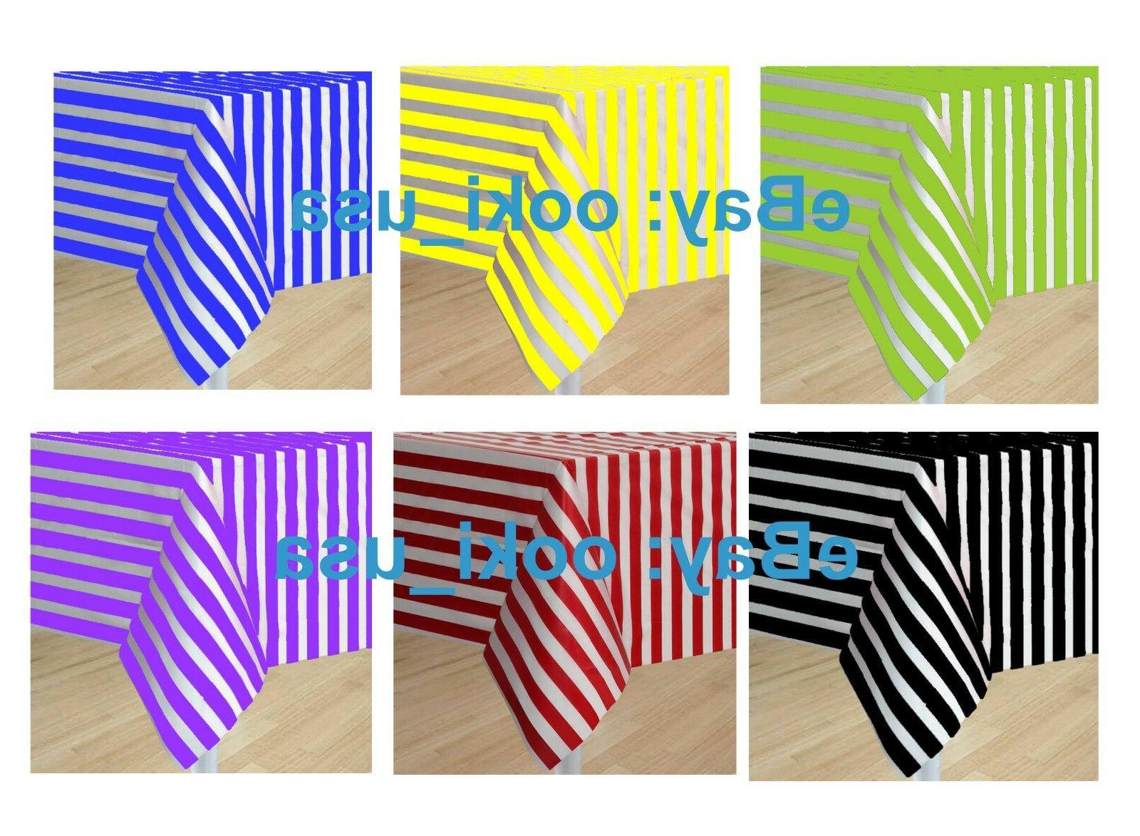 stripe plastic disposable tablecloth pattern table cover