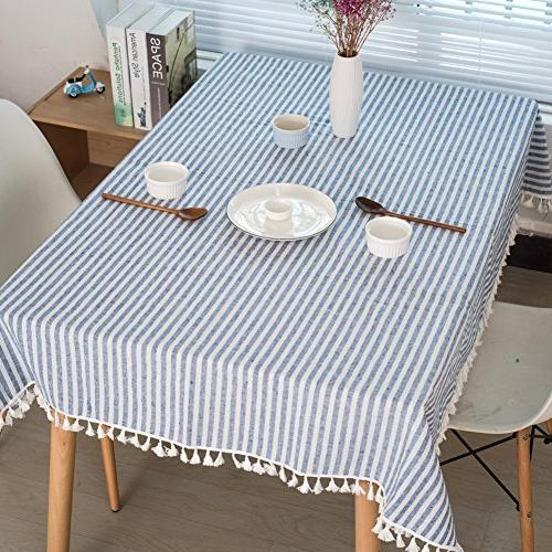 ColorBird Stripe Cotton Linen Dust-proof Cover Tabletop Decoration